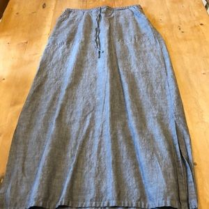 Max Studio Linen/Cotton Maxi Skirt Sz S w Pockets